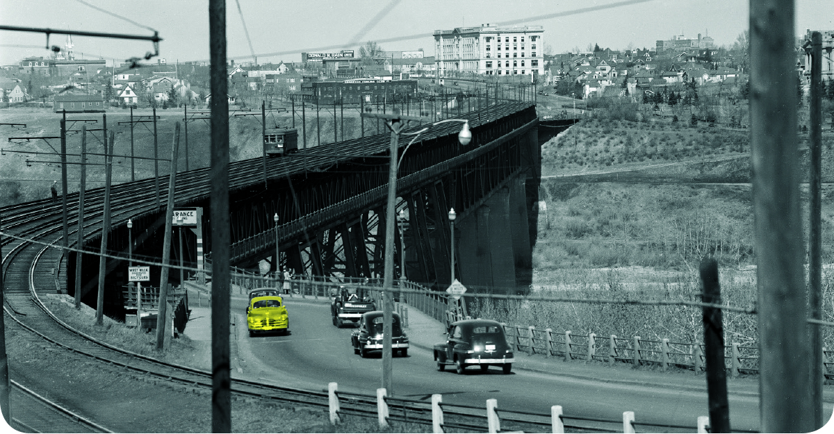 Car on bridge banner image